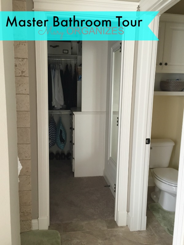 Mary ORGANIZES Master Bathroom Tour - transition from bathroom to closet