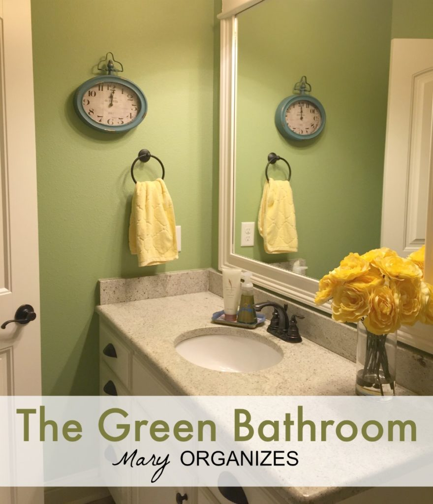 The Green Bathroom - Home Tour from Mary Organizes