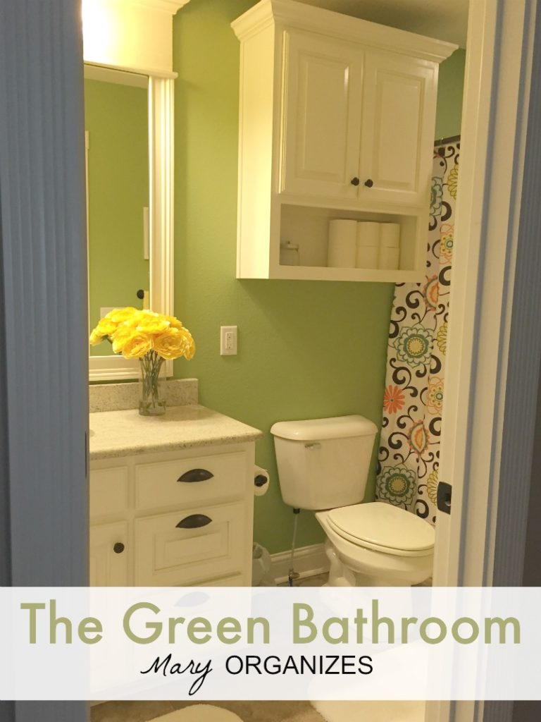 Tour my Green Bathroom - Mary Organizes