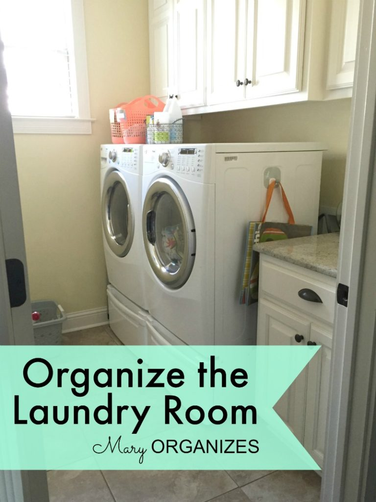 Mary Organizes - Organize the Laundry Room - 1