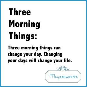 Three Morning Things
