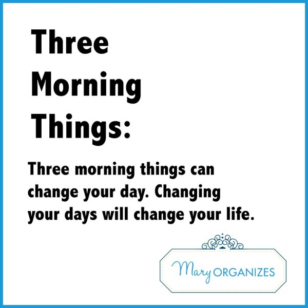 Three Morning Things