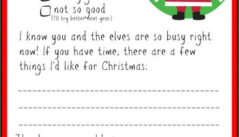 Dear Santa Creatingmaryshome Com