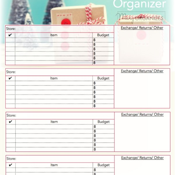 Shopping and Errand Organizing Printable