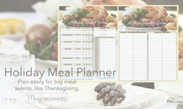 The Holiday Meal Planner - great for Thanksgiving