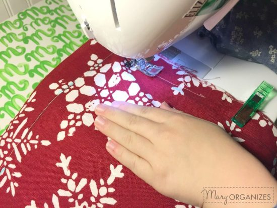 Pillow Covers Step 5 - Sew 1 inch around the edges