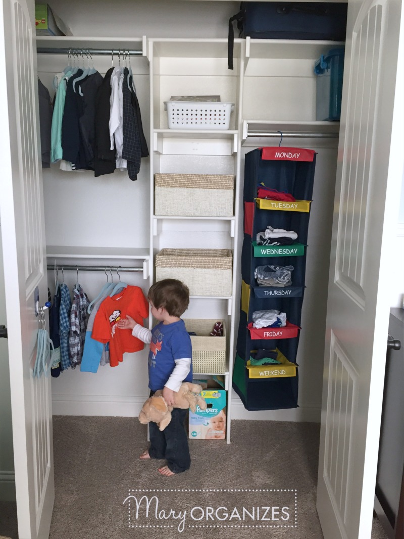 Boys Room Tour - Closet