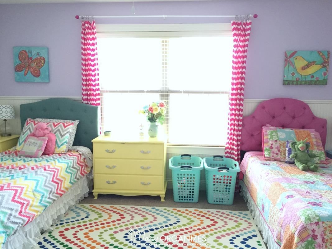 3 Girls' Shared Bedroom {Tour!} - creatingmaryshome.com on Room Girl  id=90800