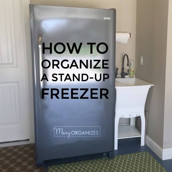 How To Organize A Stand-Up Freezer (in the Garage)