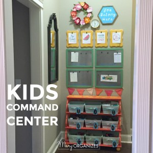 Kids Command Center {for Hanging Chore Lists & More}