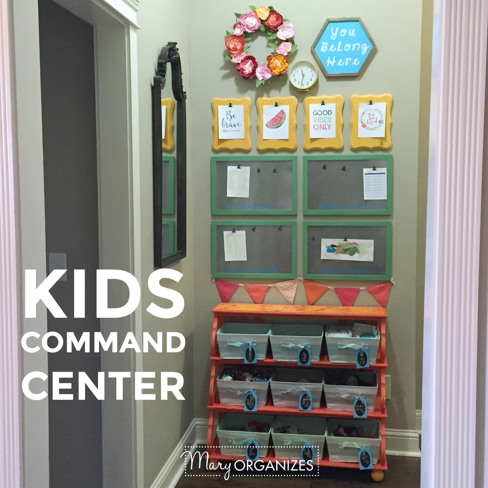 Kids Command Center - for hanging chore lists and more 12