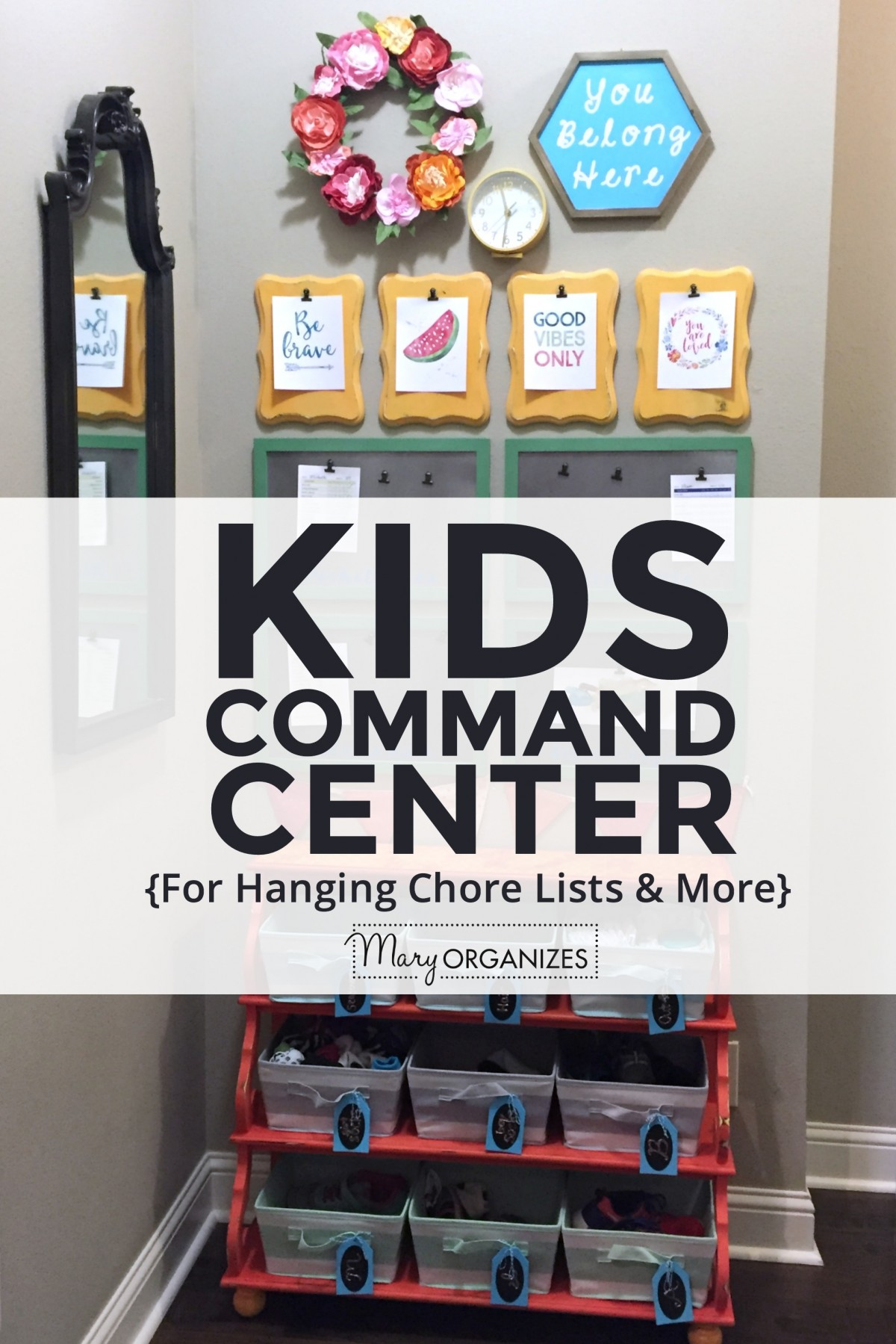 Kids Command Center - for hanging chore lists and more -v