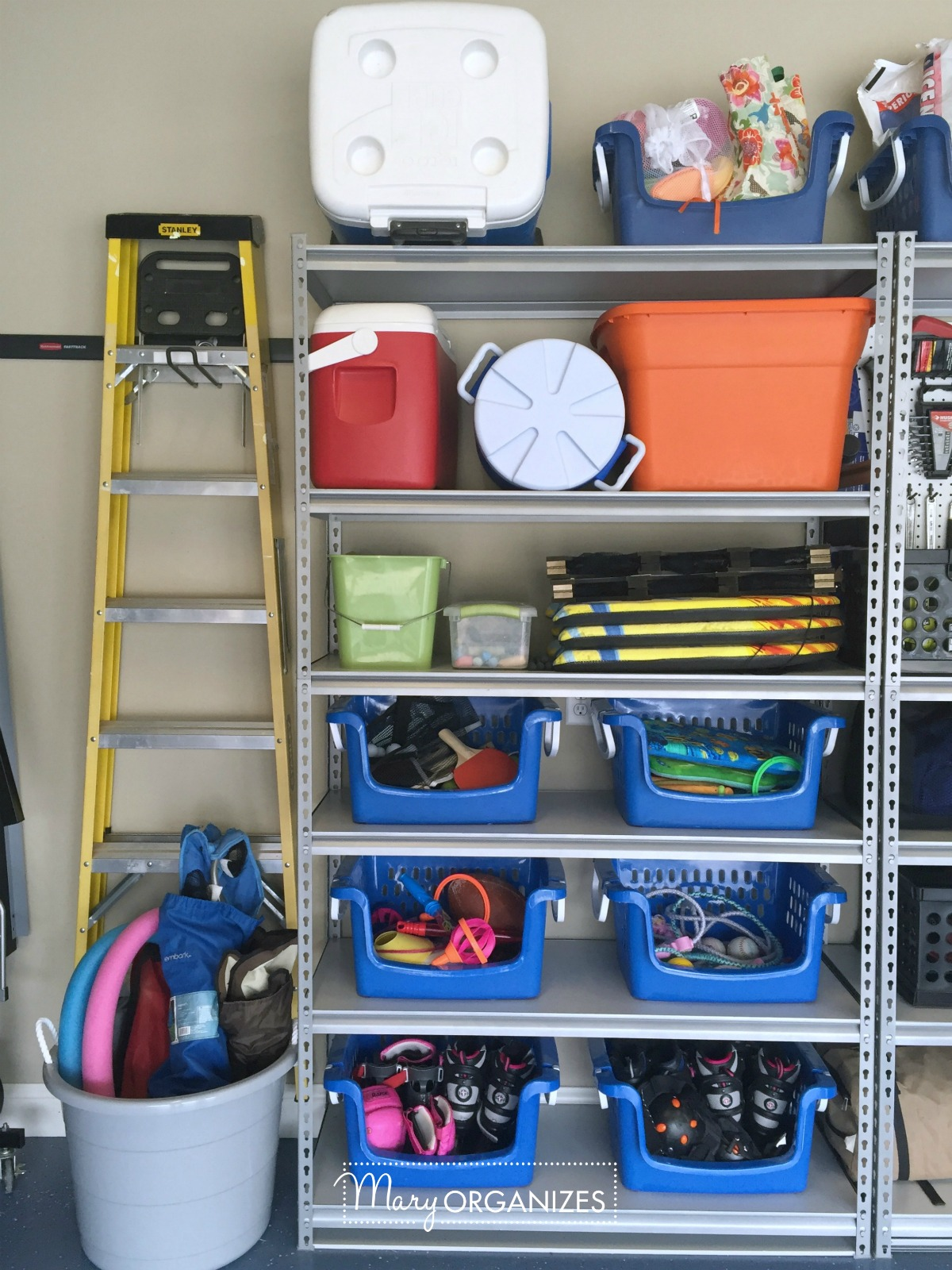 Pegboard Hack and Organizing Garage Shelves 6