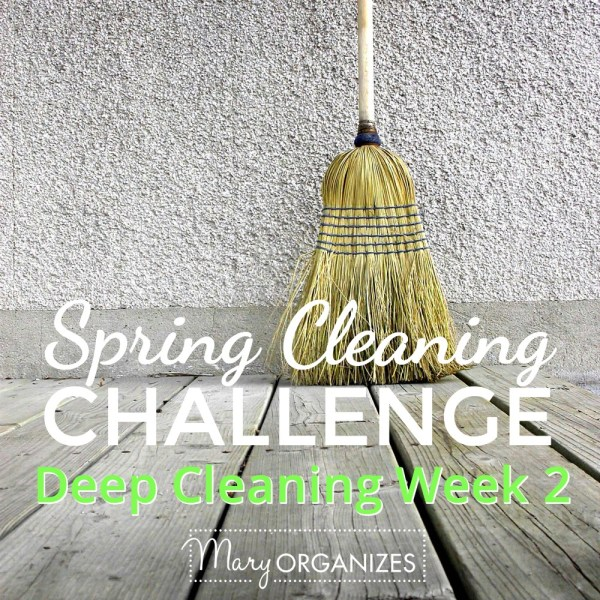 Week #2 of Deep Cleaning {Spring Cleaning Challenge 2016}