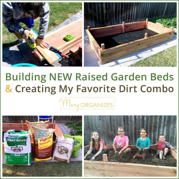 Building NEW Raised Garden Beds & Creating My Favorite Dirt Combo