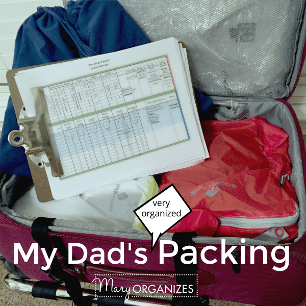 My Dad's Very Organized Packing