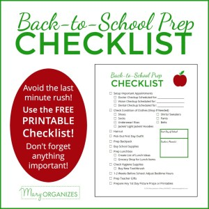 Back To School Prep Checklist {FREE PRINTABLE}