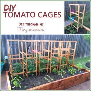 DIY Tomato Cage Tutorial {Garden Tips}