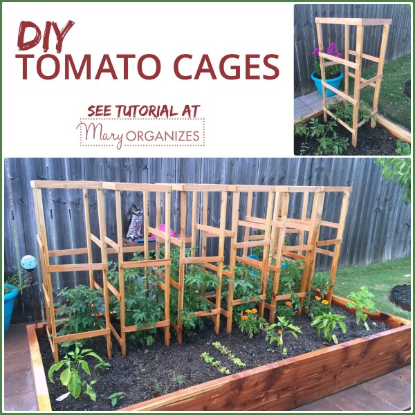 DIY Tomato Cage Tutorial {Garden Tips}