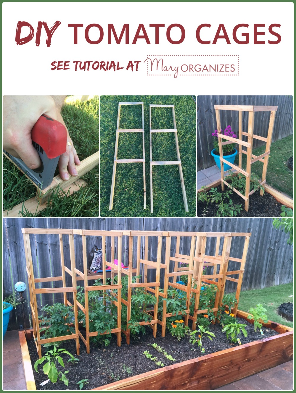DIY Tomato Cage Tutorial for the Organic Garden -v1