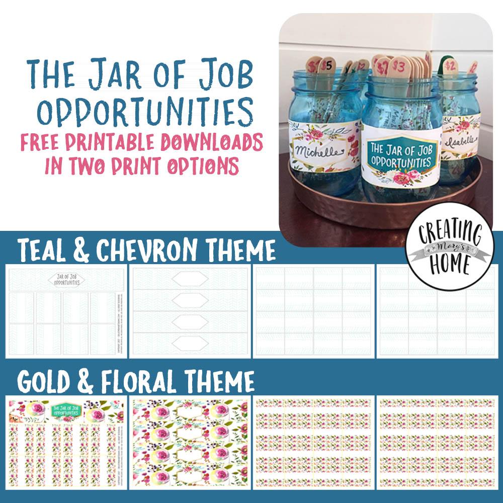 The Jar Of Job Opportunities Money Jar Creatingmaryshome Com