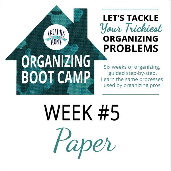Organize Your Paper Mess {OBC WEEK 5}
