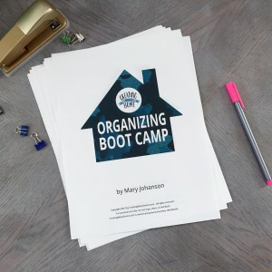 Starting soon – Organizing Boot Camp!
