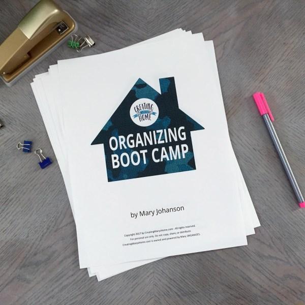 Starting soon – Organizing Boot Camp!
