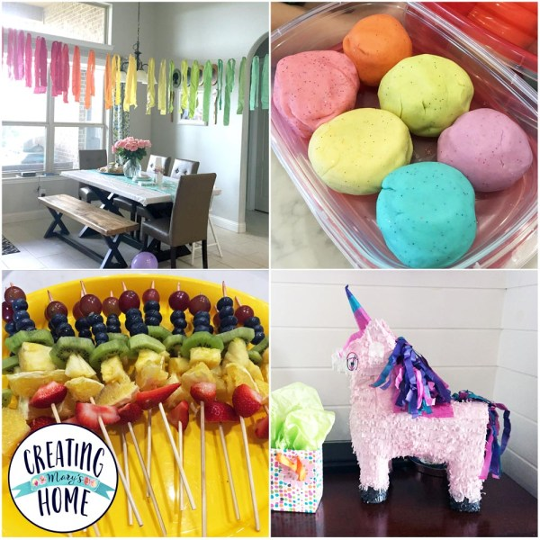 Birthday Party Plan – Unicorns & Rainbows