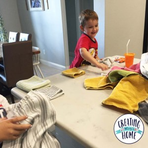 Make Laundry Fun: Folding Magic and Washcloth Races