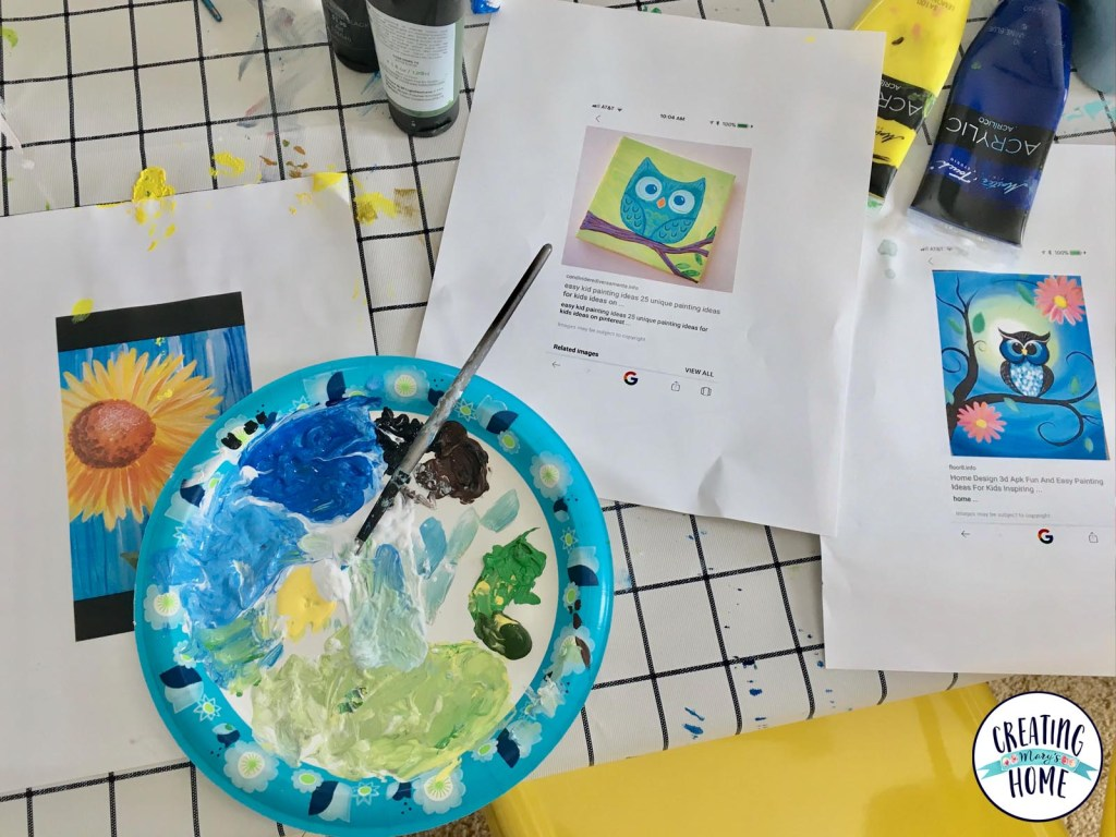 A Year of Painting With Kids: March & April - creatingmaryshome.com