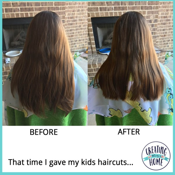 That time I gave my kids haircuts…