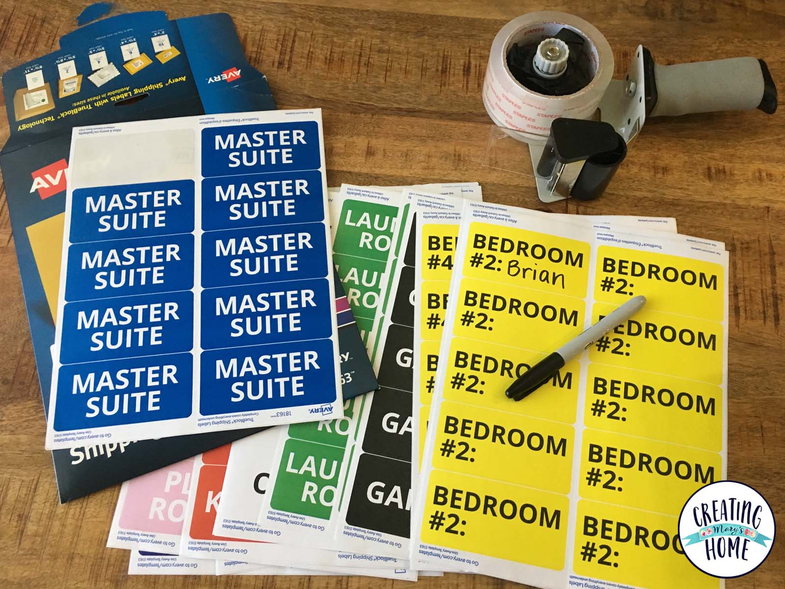 photo relating to Printable Moving Labels titled Going Box Labels (Free of charge Printable) -