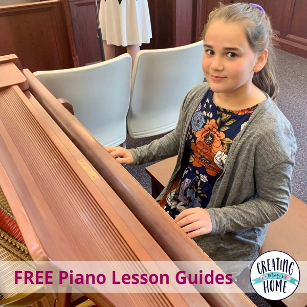 Piano Lessons at Home (FREE Lesson Guides!)