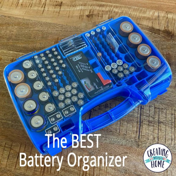 The Battery Organizer (My husband's favorite online purchase I've Made.)