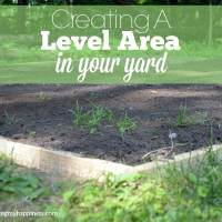Creating a Level Area in Your Yard