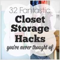 32 Fantastic Closet Storage Hacks You've Never Thought Of