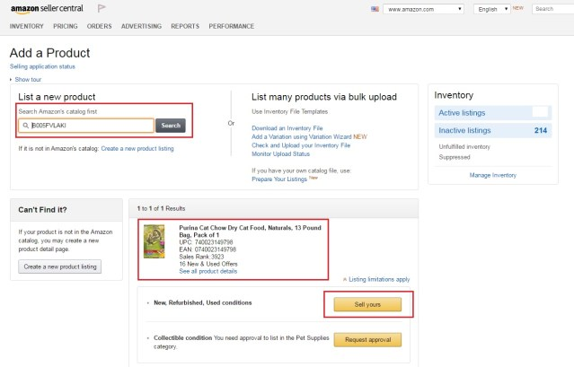 "Creating A New Listing Inside Amazon Seller Central Using ""Add A Product"""