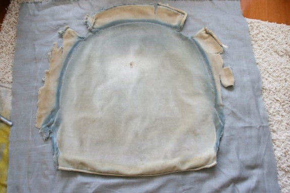 measuring out seat cushion fabric