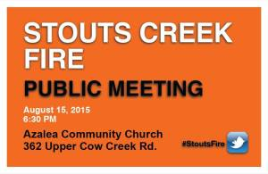 stouts fire community meeting