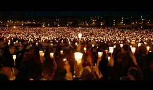 Candlelight vigil in Roseburg, Oregon