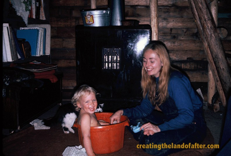 We lived in the forest in a little cabin - a happy hippy chick.