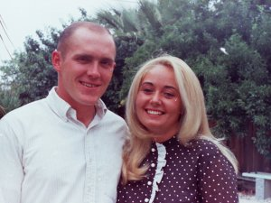 We looked so young in the  spring of 1968 when we were dating.