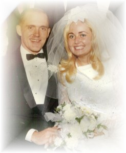 Bruce and I on our wedding day in 1968