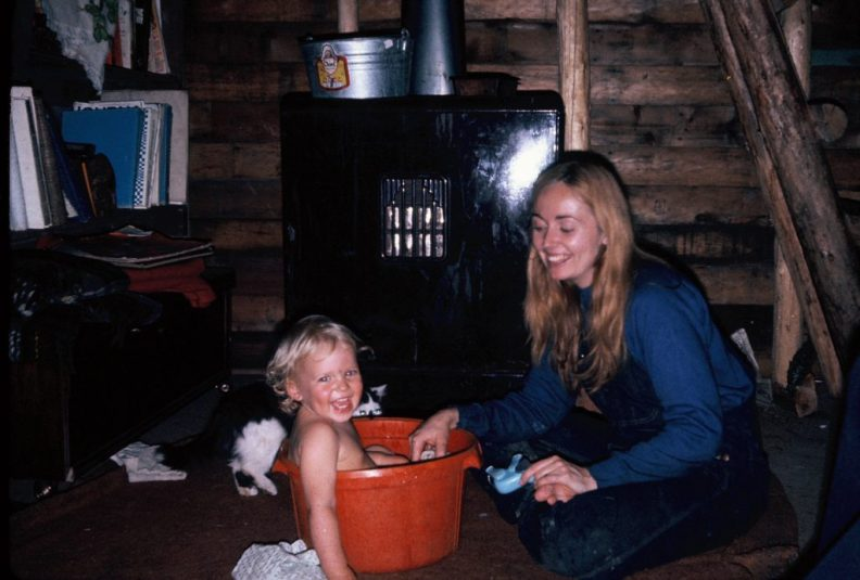 The woodstove was the center of our house.