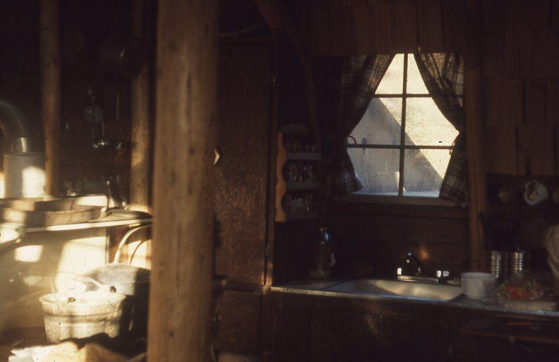 Rustic log cabin on Cow Creek Oregon