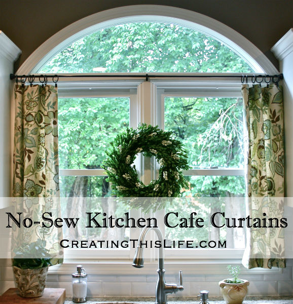 No Sew Cafe Curtains Title