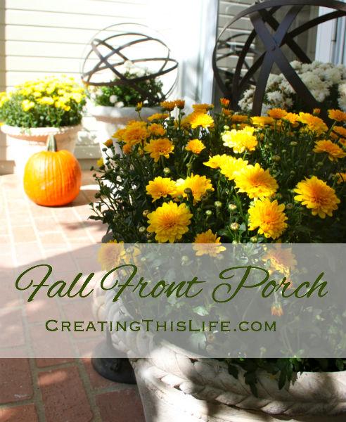 Fall Front Porch CreatingThisLife.com