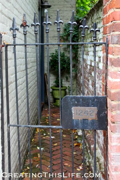 Georgetown courtyard