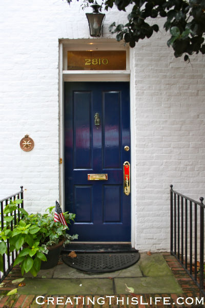 georgetown door blue